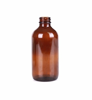240ml Amber Glass Bottle Boston Round