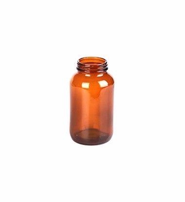 250ml Wide Mouth Amber Glass Bottle For Tablet