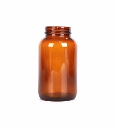 500ml Wide Mouth Amber Glass Bottle For Tablet