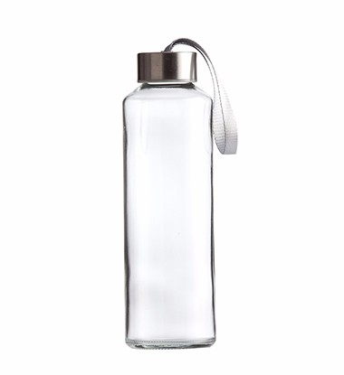 480ml glass water bottle with many replaceable lids